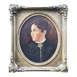 Antique 1860s Oil Portrait