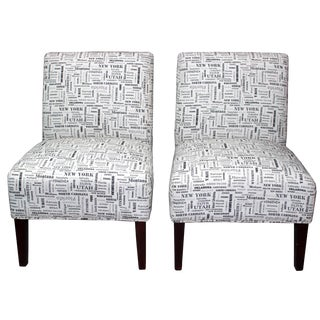 USA State Slipper Chairs - A Pair
