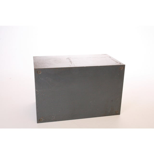 Vintage Industrial Gray 6 Drawer Kardex Style File Cabinet - Image 11 of 11
