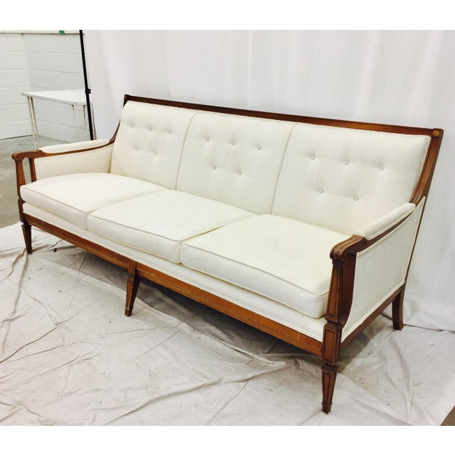 Vintage Mid-Century Tufted Button Back Sofa - Image 3 of 7