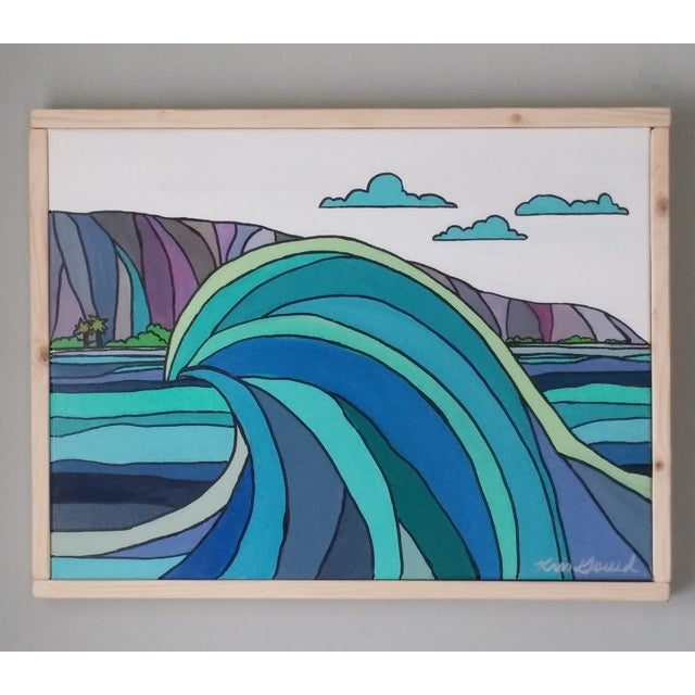 "Wave Painting - ""Wave and Beach"" - Image 3 of 5"