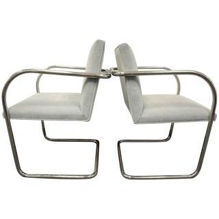 Knoll Mies Van Rohe Brnos Tubular Chairs - A Pair