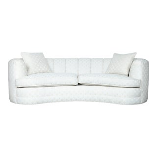 Vintage White Tufted Sectional