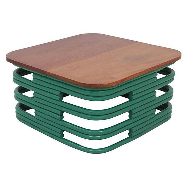 Bentwood Coffee Table In Emerald Chairish