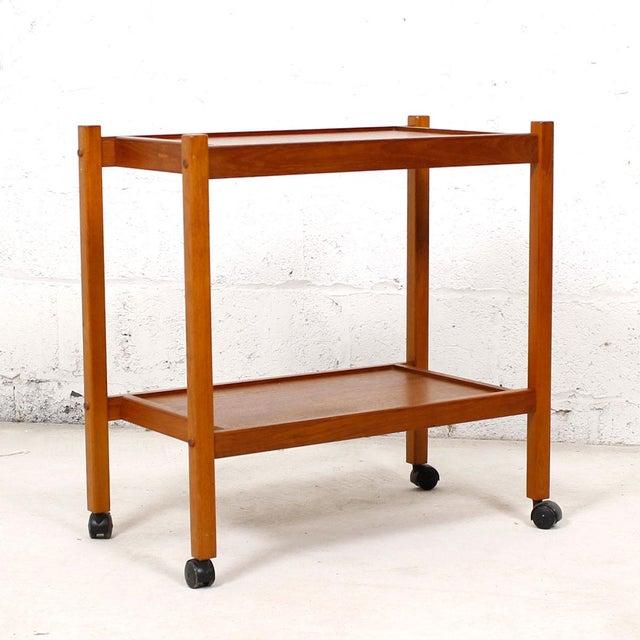 Compact Teak Bar/Serving Cart - Image 3 of 7