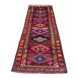 Vintage Herki Runner Rug - 3′4″ × 11′3″
