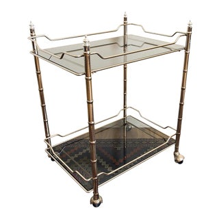 Mid-Century Modern Chrome Bar Cart