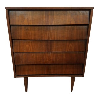 Mid-Century Modern Slatted Chest of Drawers