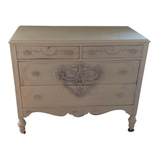 Antique Wood Guild Chalk Painted Distressed Chest