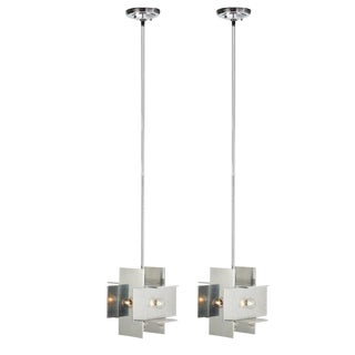 Paul Mayen for Habitat Aluminum Planed Pendants - a Pair