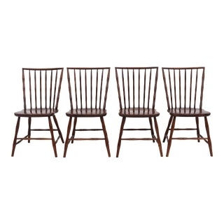 Chinese Chippendale Style Faux Bamboo Side Chairs - Set of 4