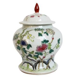 Jiangxi Flower Painted Ceramic Jar