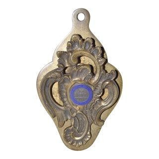 Vintage Brass & Enamel Paper Clip