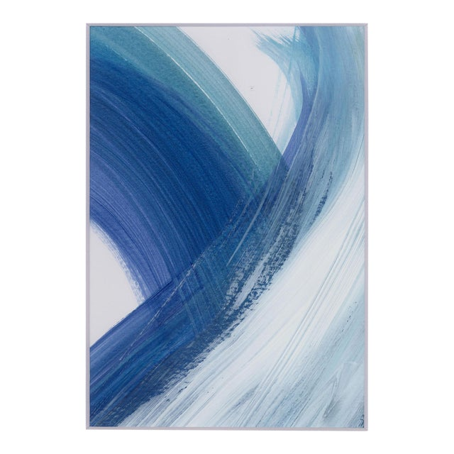 """Original """"Enjoy the Ride"""" Modern Abstract Minimalist Matted Acrylic Painting - Image 1 of 4"""