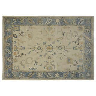 Modern Turkish Oushak Rug - 12′6″ × 17′9″