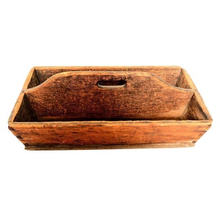 Antique Carpenters Wood Tool Box