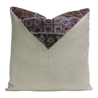 Aaki Metallic Embroidered Square Pillow