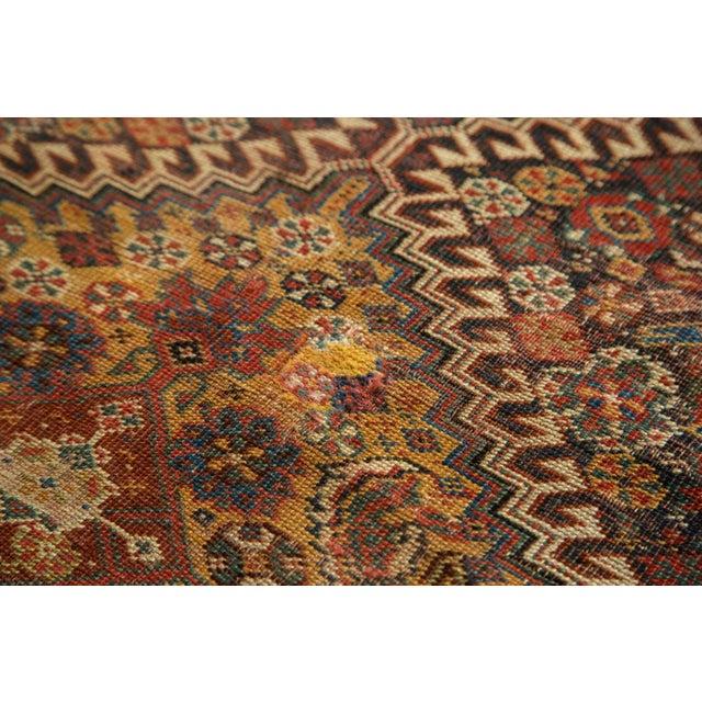 """Antique Persian Qashqai Rug - 3'11"""" x 6'5"""" - Image 8 of 10"""