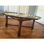 Image of Moroccan Brass & Glass Top Coffee Table