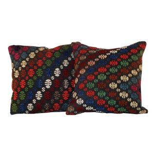 Vintage Wool Kilim Pillows - Set of 2