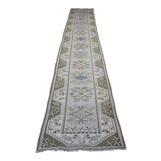 Turkish Oushak Runner - 2′7″ × 17′6″