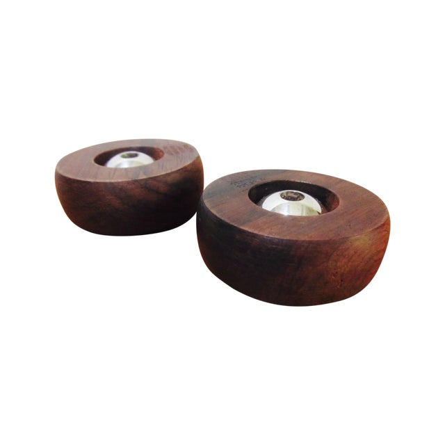 Image of Danish Modern Nissen Candle Holders - A Pair
