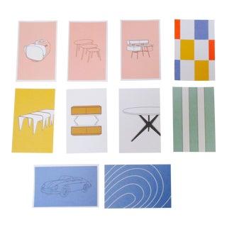 Mid Century Modern Iconic Furniture Image Postcards - Set of 10