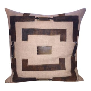 Margot Hide and Bone Throw Pillow