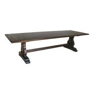 Custom Walnut Wood Trestle Table