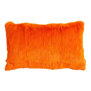 Tangerine Fur Pillow