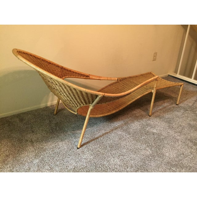 1950s Scarce Francis Mair Mid-Century Modern Rattan Low Slung Lounge Chair - Image 3 of 8