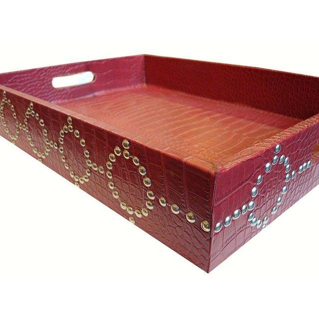Medium size Studded Croc Tray - Image 3 of 5
