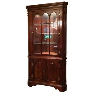 Traditional Mahogany Corner Cabinet