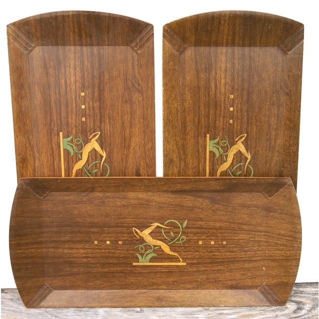 Image of Vintage Hasko Gazelle Buffet Trays - Set of 3