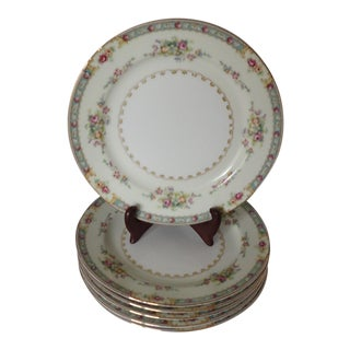 Cottage Style Floral Salad Plates S/6