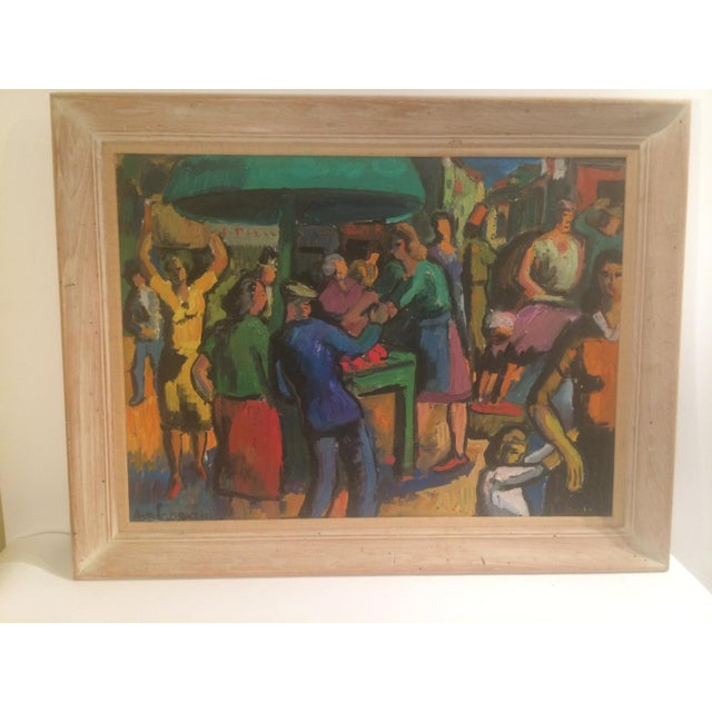 French Expressionist Oil by Pierre Ambrogiani - Image 2 of 7