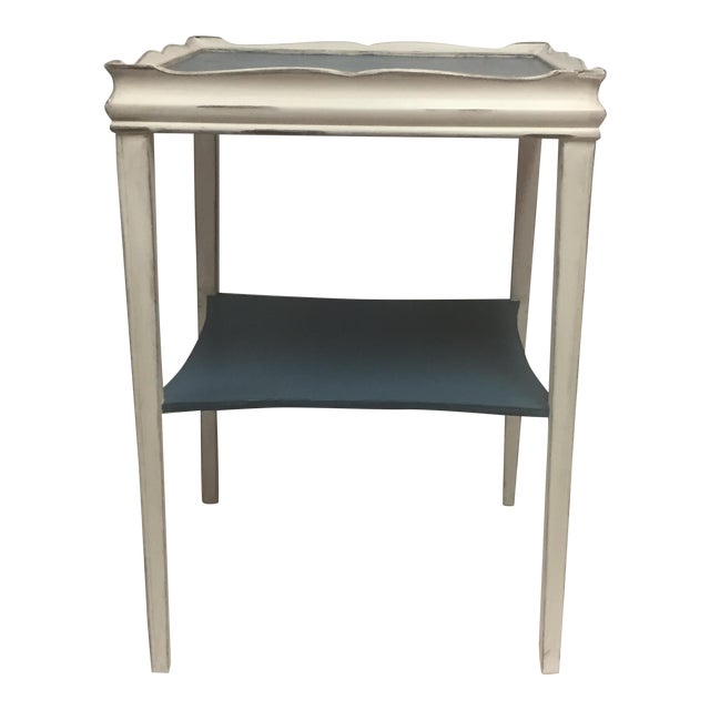 Distressed Painted Side Table - Image 1 of 6