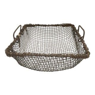 Vintage Hand Crafted Metal Wire Basket