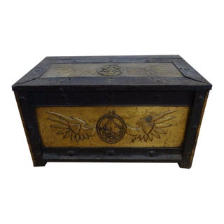 Russian Iron & Brass Trunk
