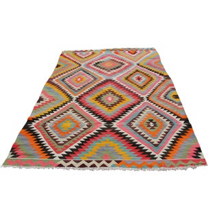 Vintage Turkish Kilim Rug - 6′ × 10′3″