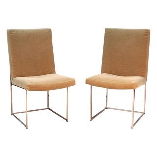 Donghia Chrome and Mohair Dining Chairs - Set of 6