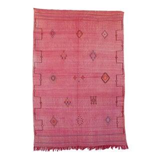 """Pink Vintage Moroccan Cactus Silk Rug - 4'11"""" x 7'4"""""""