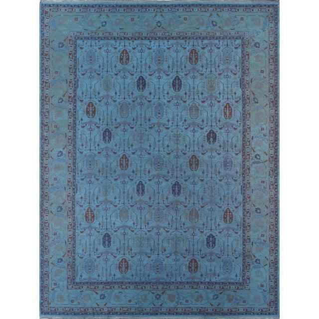 Over-Dyed Afghan Kilim Weave Rug - 10' x 13′5″ - Image 1 of 3