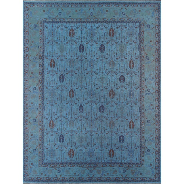 Image of Over-Dyed Afghan Kilim Weave Rug - 10' x 13′5″