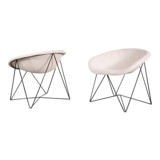 Set of 2 Rare Easy Chairs, circa 1950