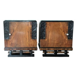 French Art Deco 1930s Nightstands - A Pair