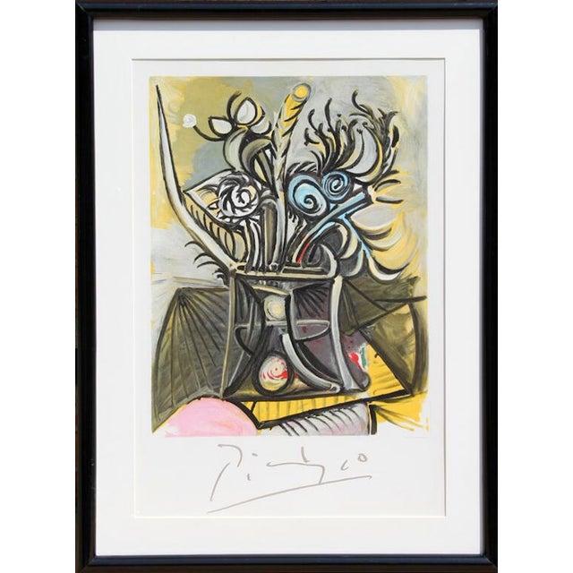 """Pablo Picasso, """"Vase De Fleurs,"""" Lithograph - Image 1 of 2"""
