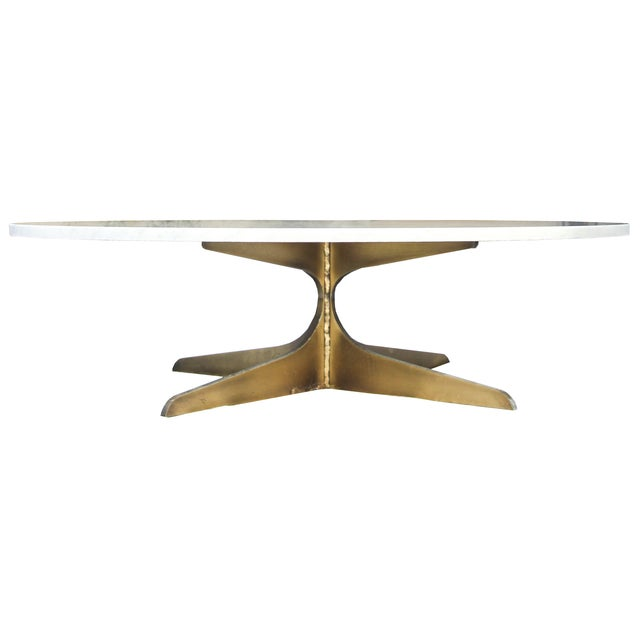 Round Marble Coffee Table With Solid Brass Base Chairish
