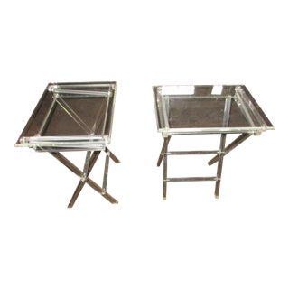 Lucite Tray Tables - A Pair