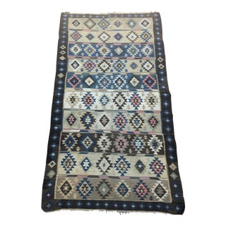 Antique Turkish Kilim Rug - 4′2″ × 8′3″